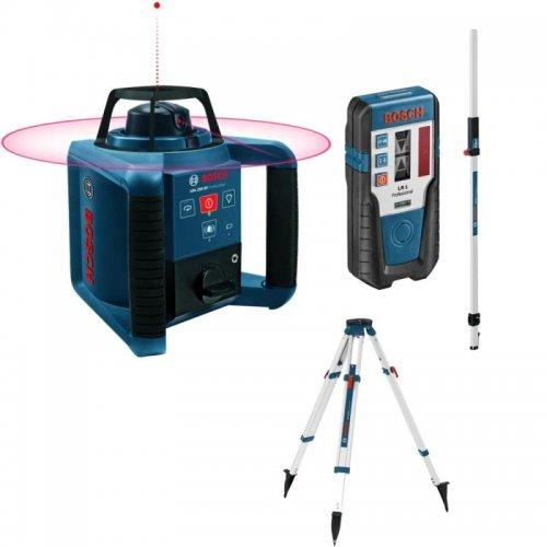 Stavebni rotační laser set Bosch GRL 250 HV Professional + stativ BT170 + GR240 + LR1