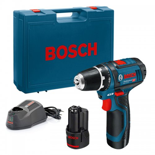 Aku vrtačka 2x2,0Ah Bosch GSR 12V-15 Professional 0601868122