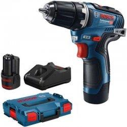 Aku vrtací šroubovák 2x3,0Ah L-BOXX Bosch GSR 12V-35 Professional 06019H8002