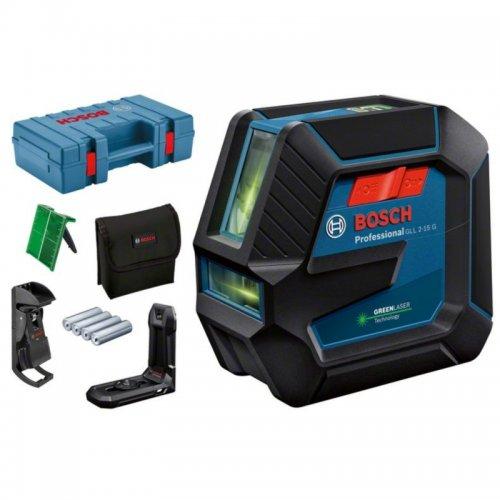 Křížový laser BOSCH GLL 2-15 G s kufrem (zelený) 0 601 063 W02