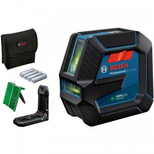 Křížový laser BOSCH GLL 2-15 G zelený (IP64) 0 601 063 W00