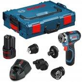 Aku vrtací šroubovák 2x2,0Ah Bosch GSR 12V-15 FC Set Professional 0 601 9F6 000