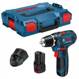 Aku vrtací šroubovák 2x2,0Ah + L-Boxx Bosch GSR 12V-15 Professional