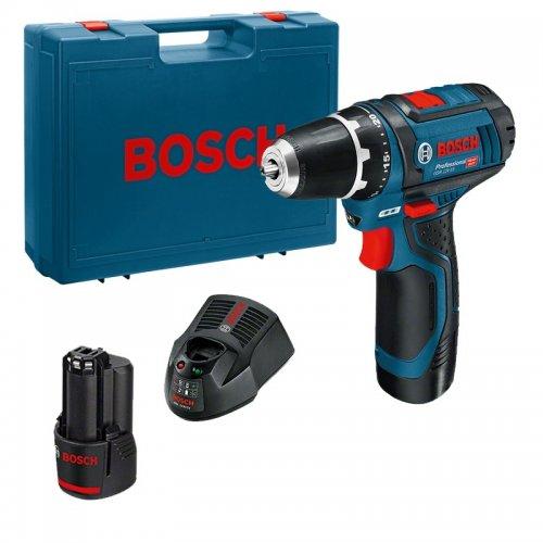 Aku vrtací šroubovák 2x2,0Ah Bosch GSR 12V-15 Professional