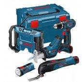 Set 5 strojů 12V 3x2,0Ah Bosch Li-Ion Professional 0615990GF0