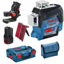 Křížový laser Bosch GLL 3-80 C Professional L-Boxx 136 + držák BM1
