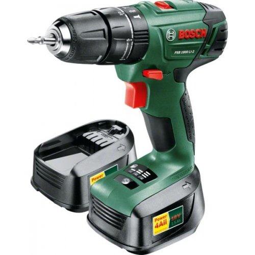 Aku příklepový šroubovák + 2x1,5Ah Bosch PSB 1800 LI-2 0 603 9A3 321