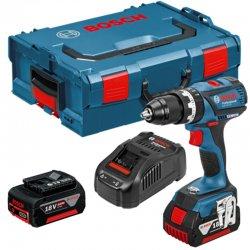 Aku vrtací šroubovák 2x2,0Ah + L-BOXX Bosch GSR 18 V-EC Professional