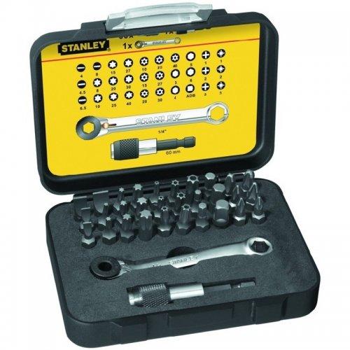 """1/4"""" 32-dílná sada bitů s ráčnovým klíčem Stanley 1-13-905"""