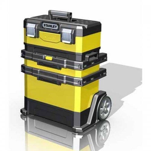 Kovo plastový pojízdný montážní box STANLEY 1-95-621