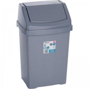 Odpadkový koš stříbrný 15l WHAM 11745