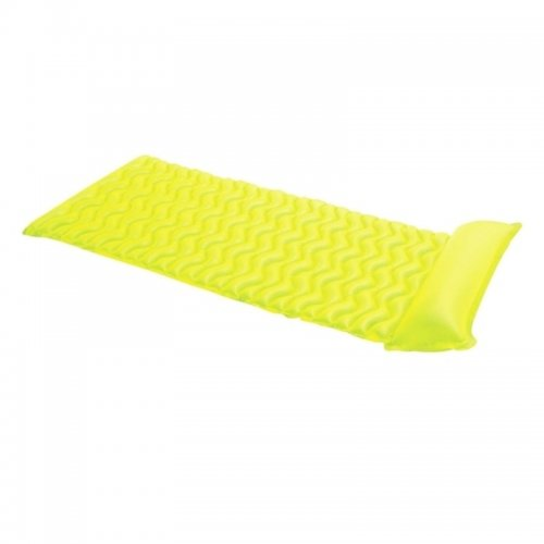 Nafukovací lehátko MARIMEX - vlnovka žlutá 116302422