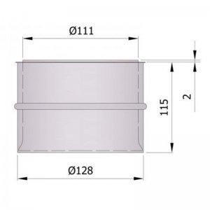 Dvojitá komínová zděra, dlouhá 115 mm
