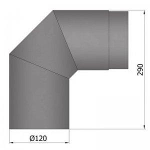 Koleno 2 x 45°, průměr 120 mm