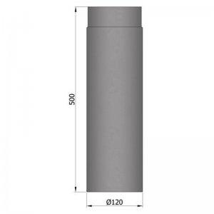 Kouřovod průměr 120mm, délka 50cm