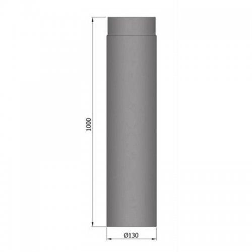 Kouřovod průměr 130mm, délka 100cm