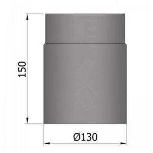 Kouřovod průměr 130mm, délka 150mm