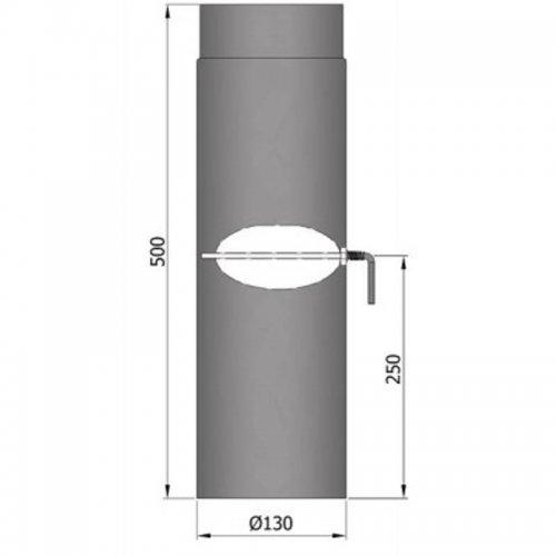Kouřovod průměr 130cm, délka 50cm s klapkou