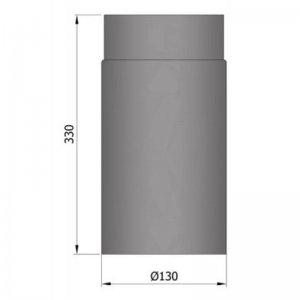 Kouřovod průměr 130mm, délka 33cm
