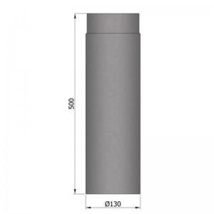 Kouřovod průměr 130mm, délka 50cm