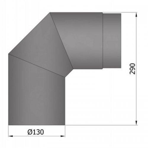 Koleno 2 x 45°, průměr 130