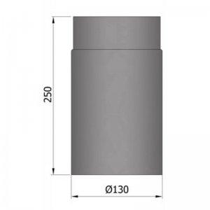 Kouřovod průměr 130mm, délka 25cm