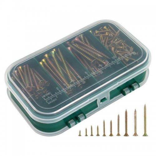 Vruty do dřeva 9 rozměrů 310ks v plastové krabičce EXTOL CRAFT 1440