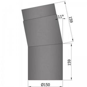 Koleno 11°, krátké, průměr 150