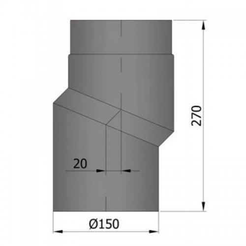Koleno S, průměr 150 s úhybem 20 mm