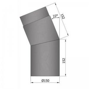 Koleno 45°, krátké, průměr 150