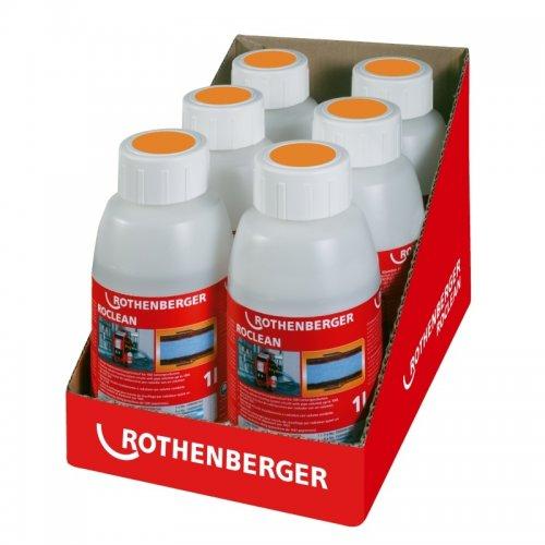 Čistící chemie, konzervační látka pro radiátorové topení 6x1L ROTHENBERGER ROCLEAN