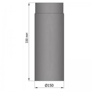 Kouřovod průměr 150mm, délka 33cm