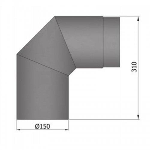Koleno 2x45°, průměr 150