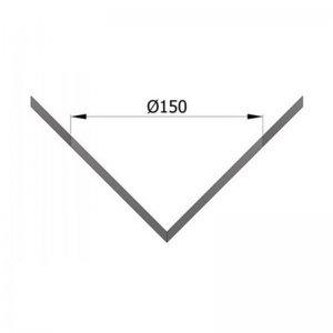 Rozeta, rohová, vnější, průměr 150