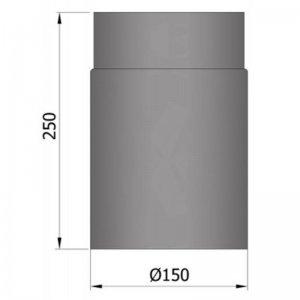 Kouřovod průměr 150mm, délka 25cm