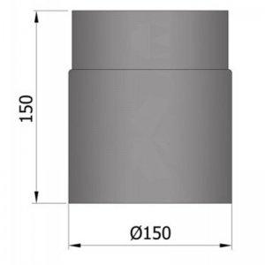 Kouřovod průměr 150mm, délka 15cm