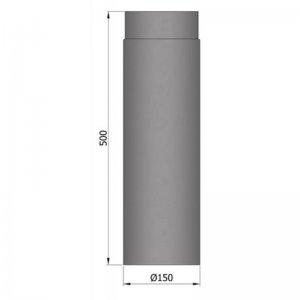 Kouřovod průměr 150mm, délka 55cm