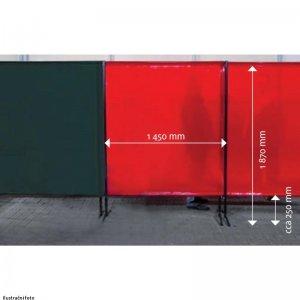 Ochranná zástěna červená TransEco 1450 V