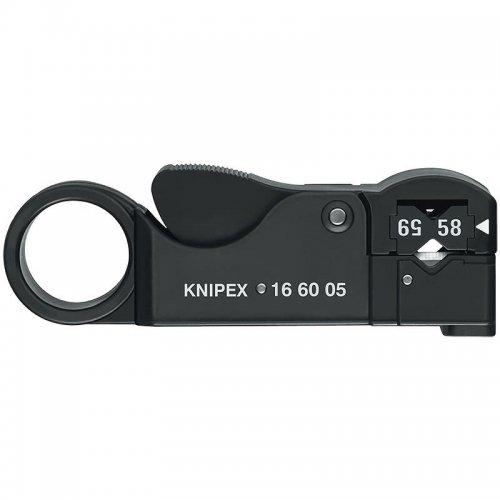 Nástroj na odizolování koaxiálních kabelů Knipex 16 60 05 SB