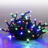 Řetěz světelný 5m 100 LED barevná-zelená 8 funkcí MARIMEX 18000063