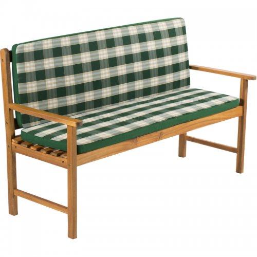 Potah na 2 místnou lavici - pruhovaný zelený FIELDMANN FDZN 9120