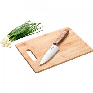 Prkénko 30x22 cm a nůž Bamboo LAMART LT2059