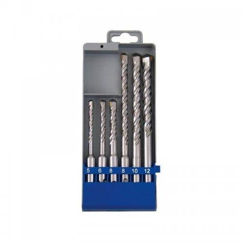 Vrtáky SDS PLUS příklepové do betonu sada 6ks EXTOL CRAFT 23901