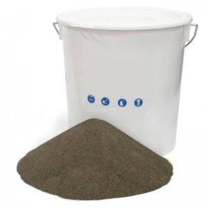 """Abrazivo (""""písek"""") na pískování EVAM, zrnitost 0,1 - 1 mm, kbelík 14 kg 250119"""