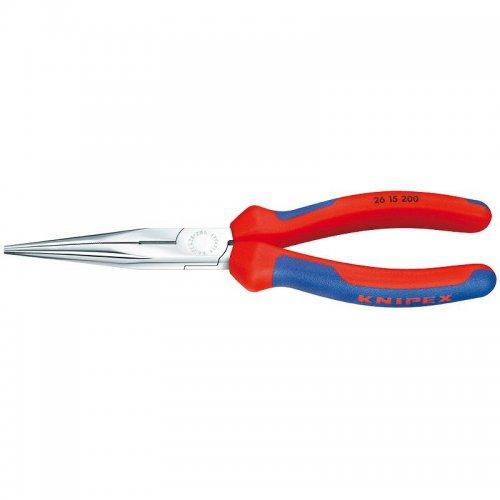 Půlkulaté kleště s břity (úzké ploché) Knipex 26 15 200