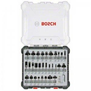 Sada tvarových fréz 30ks s 6mm vřetenem Bosch 2607017474