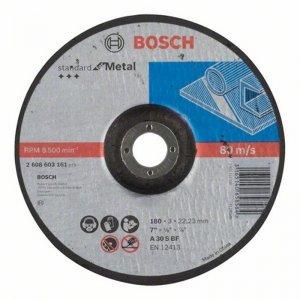 Dělicí kotouč profilovaný Standard for Metal A 30 S BF, 125 mm, 22,23 mm, 2,5 mm Bosch 2608603160