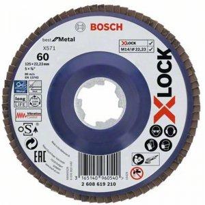 Lamelový kotouč rovné provedení Best for Metal 125mm Bosch X-LOCK 2608619210