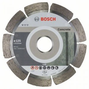 Diamantový dělicí kotouč 10ks Standard for Concrete 125 x 22,23 x 1,6 x 10 mm Bosch 2608603240