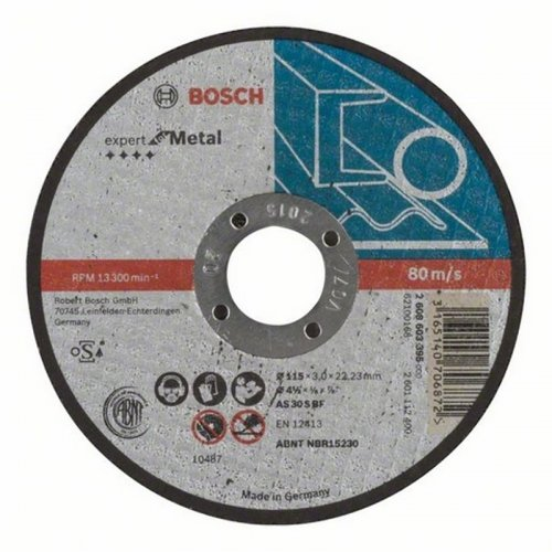 Dělicí kotouč rovný Expert for Metal AS 30 S BF, 125 mm, 3,0 mm Bosch 2608603397
